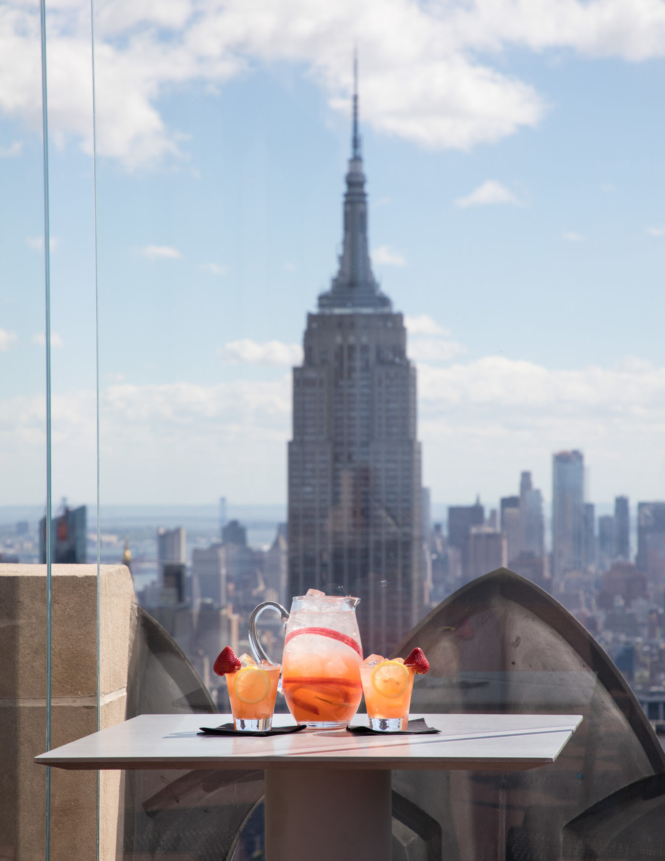 Drinks with Empire State Building